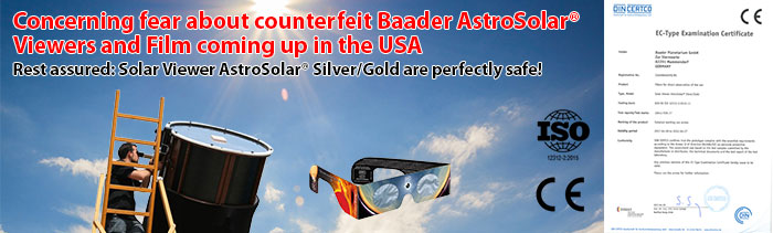 Concerning Fear about counterfeit AstroSolar Viewers and Film