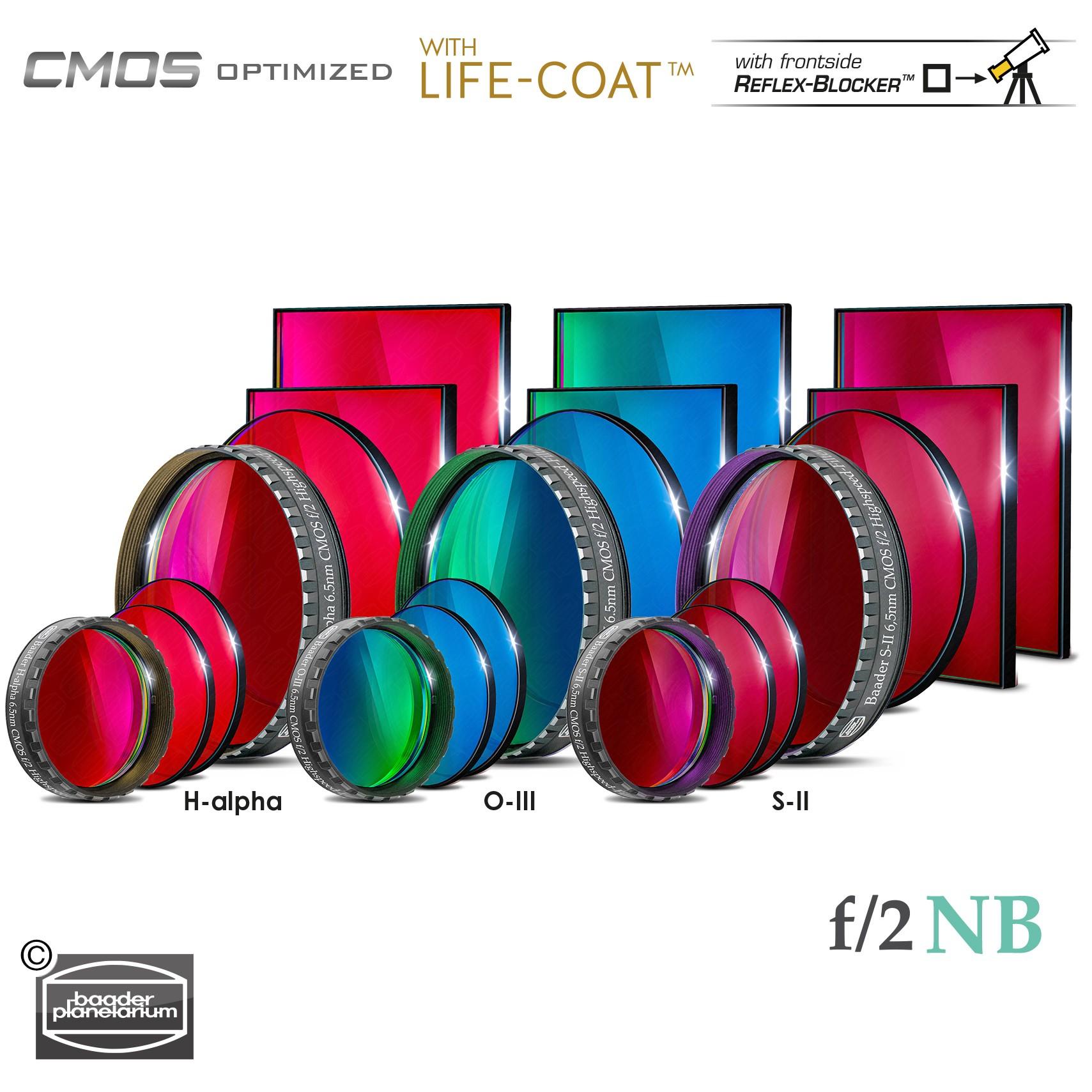 6.5nm f/2 Highspeed-Filtersatz – CMOS-optimiert (H-alpha / O-III / S-II)