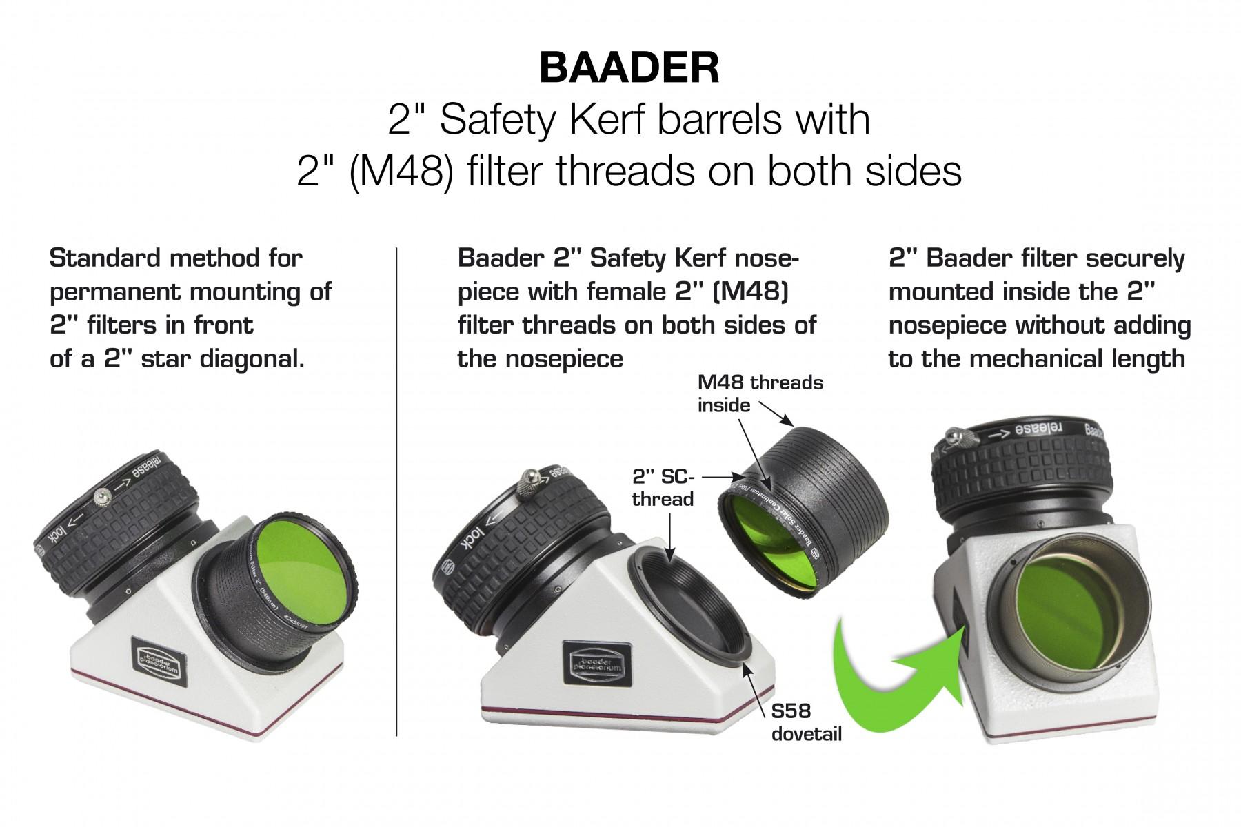 Baader Planetarium 2 Nosepiece also has 2 Filter Thread fits Internal 2SCT Threads