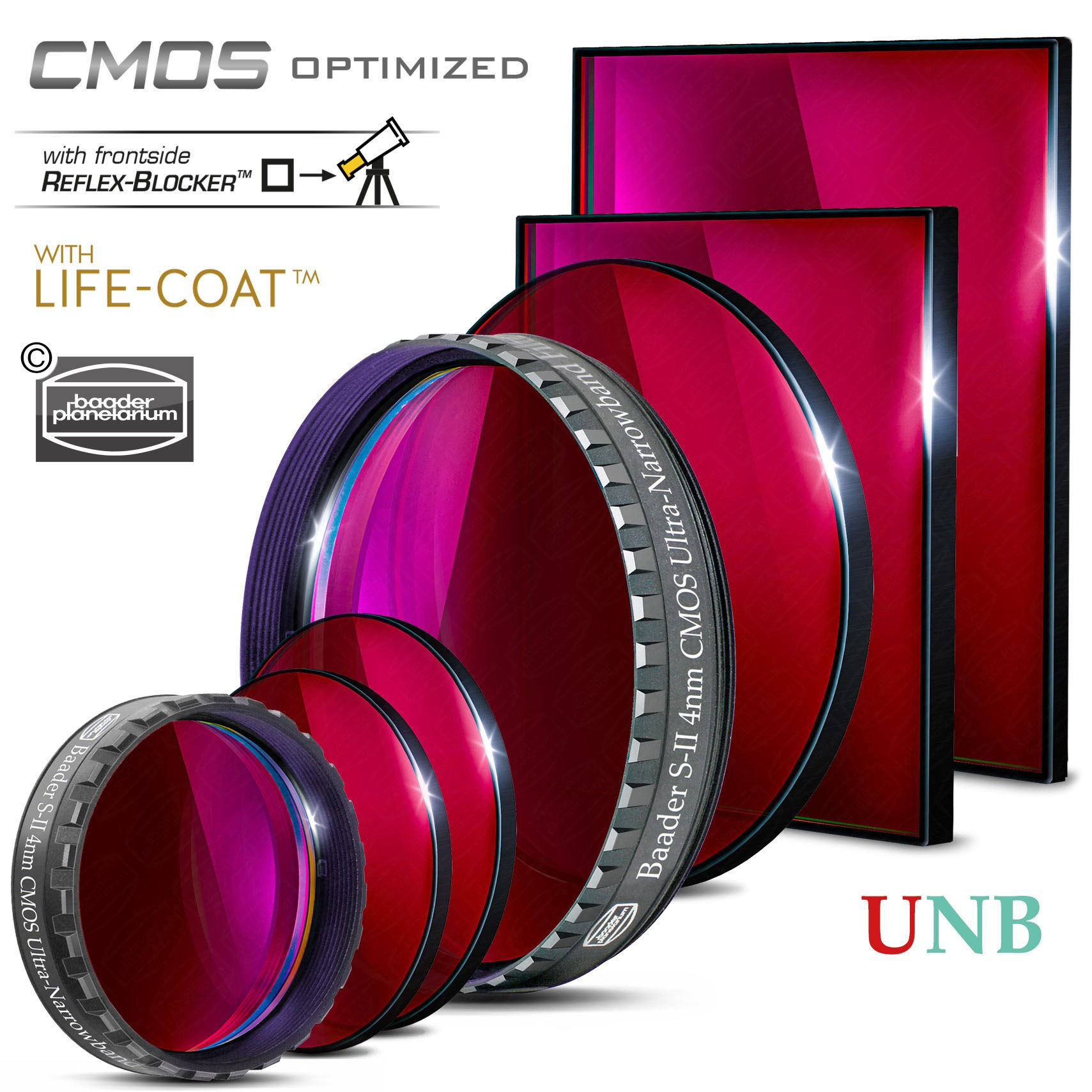 S-II Ultra-Narrowband-Filter (4nm) – CMOS-optimiert