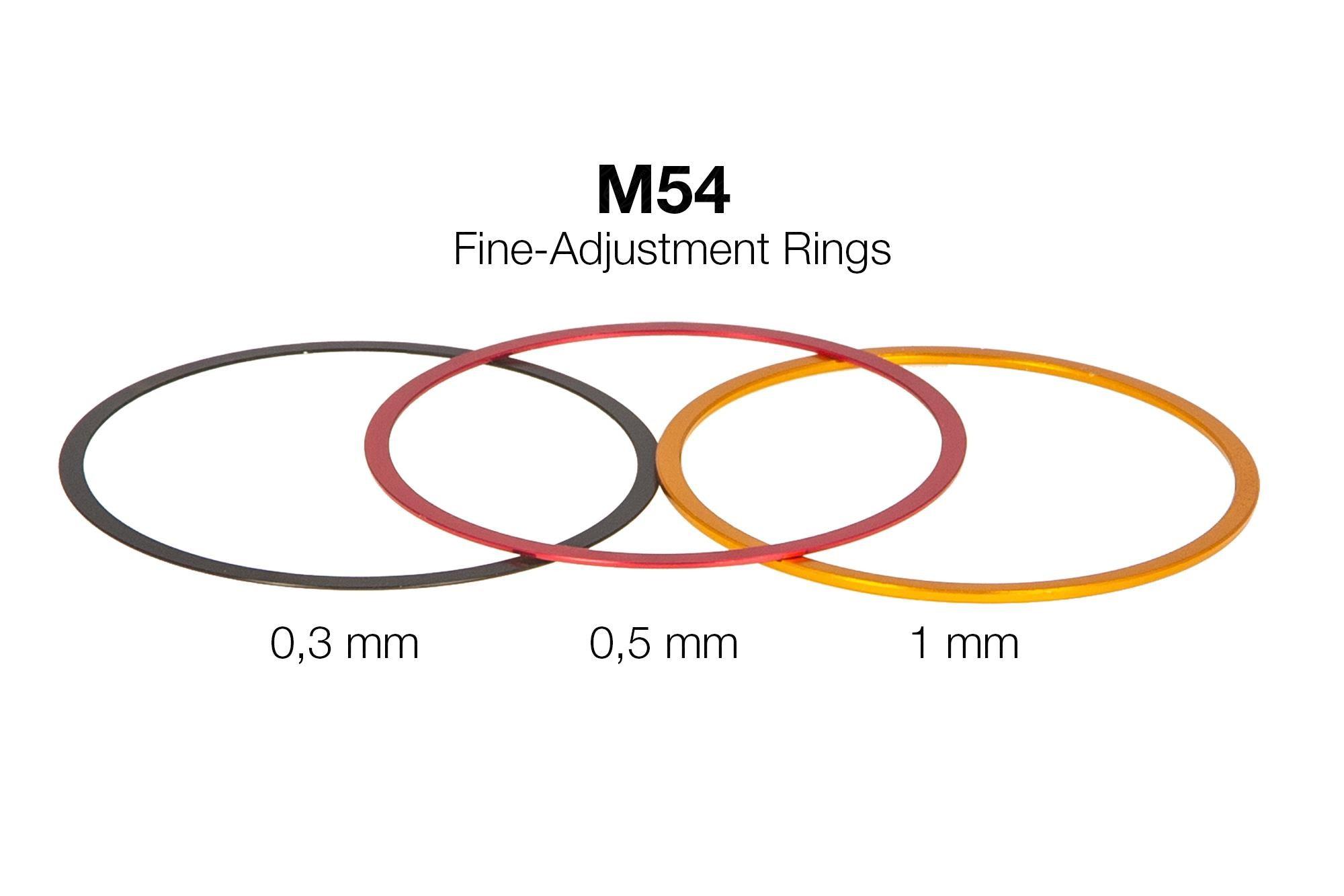 M54 Fine-Adjustment rings (0,3 / 0,5 / 1 mm) - Aluminium