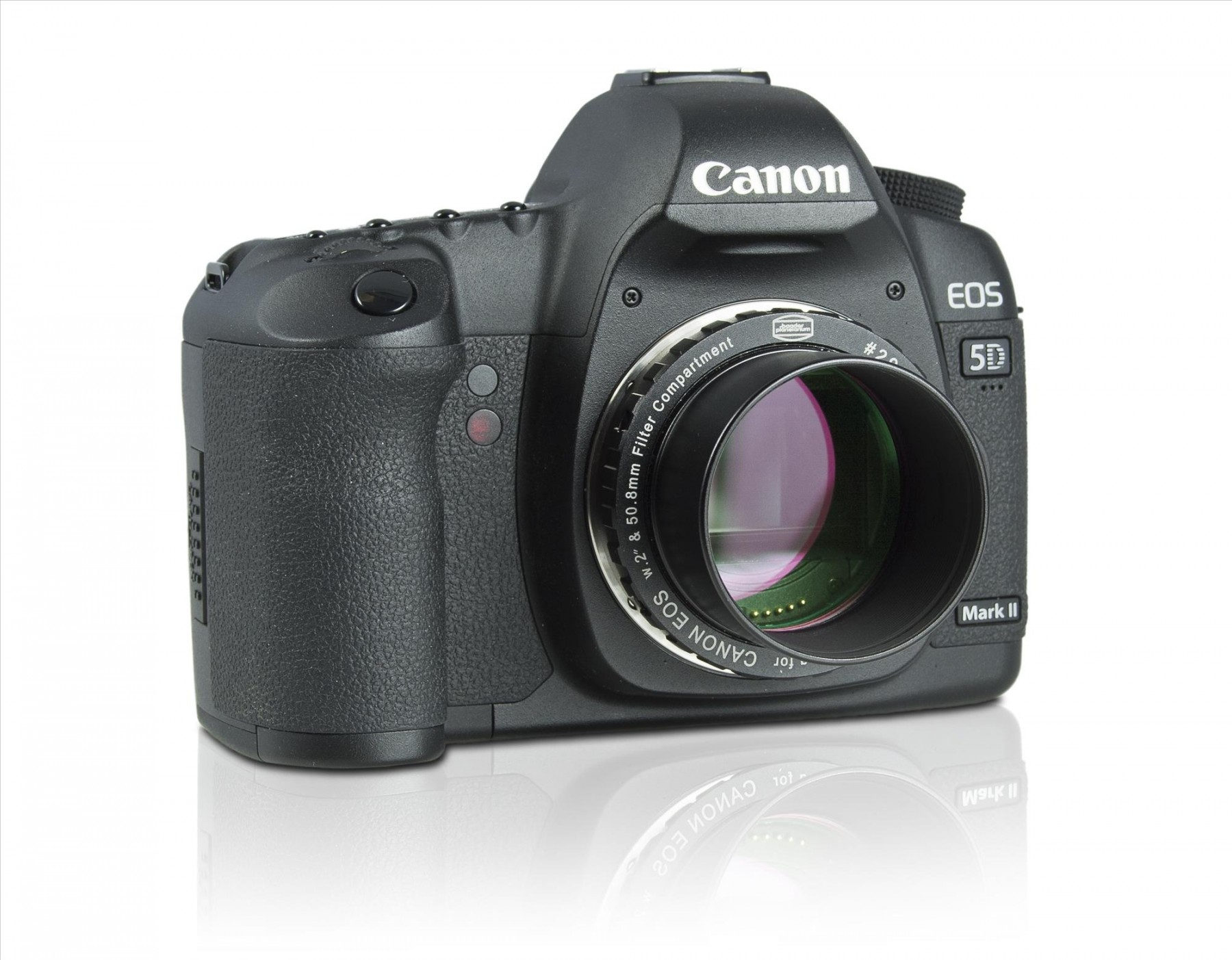 Canon EOS Protective T-Ring with additional filter and barrel. Camera not included