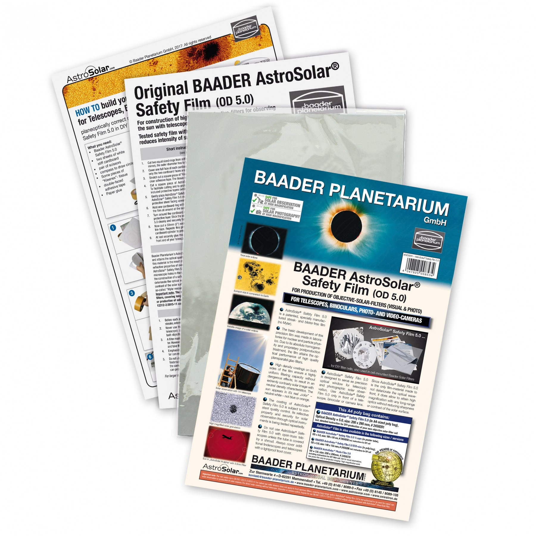 Baader AstroSolar Safety Film OD 5.0 - 20 x 29 cm