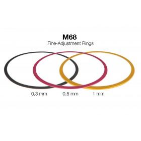 M68 Fein-Abstimmringe  aus Aluminium (0,3 / 0,5 / 1 mm)