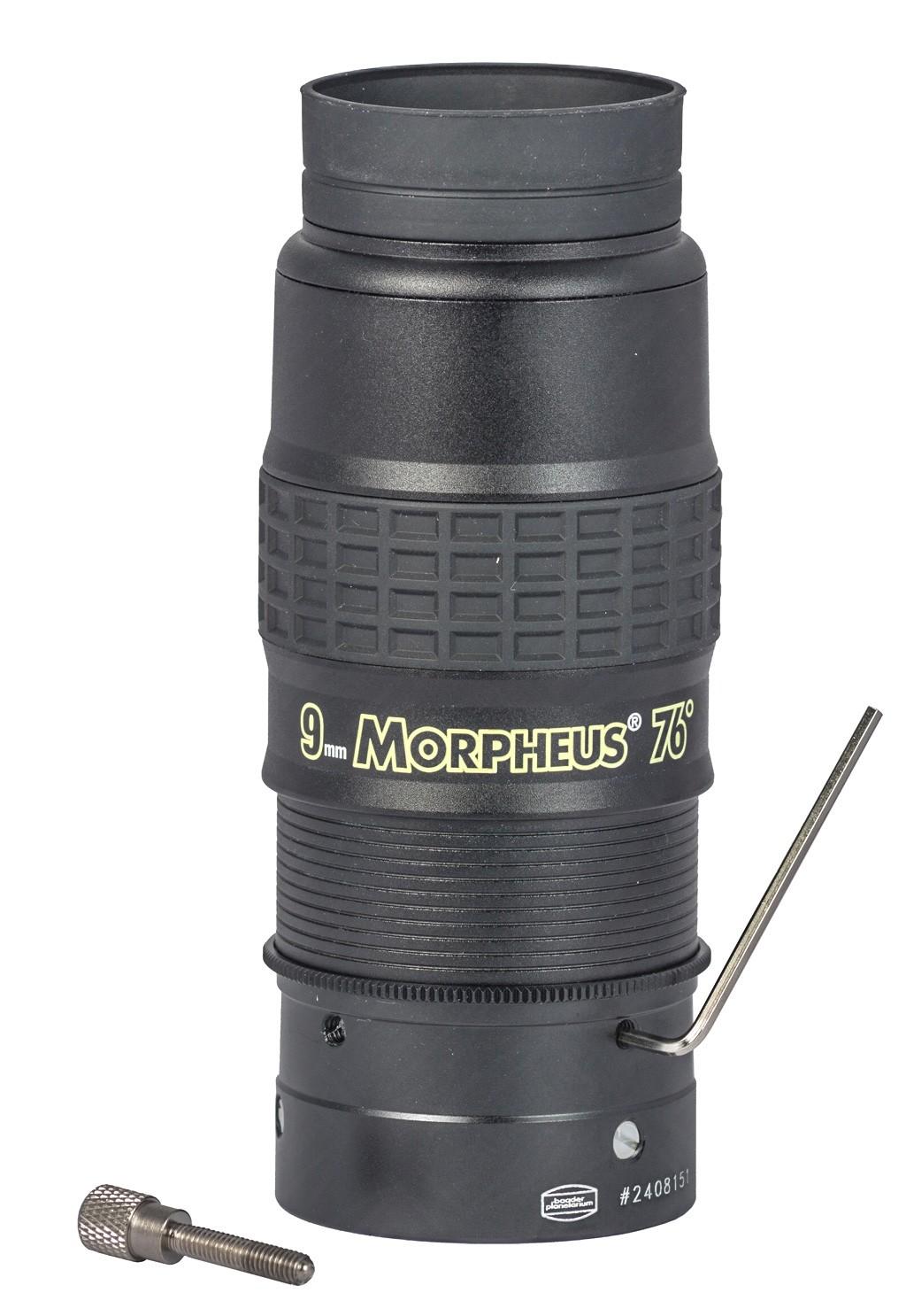 Anwendungsbild: Baader Pushfix montiert am 9 mm Morpheus® 76° Weitwinkel-Okular