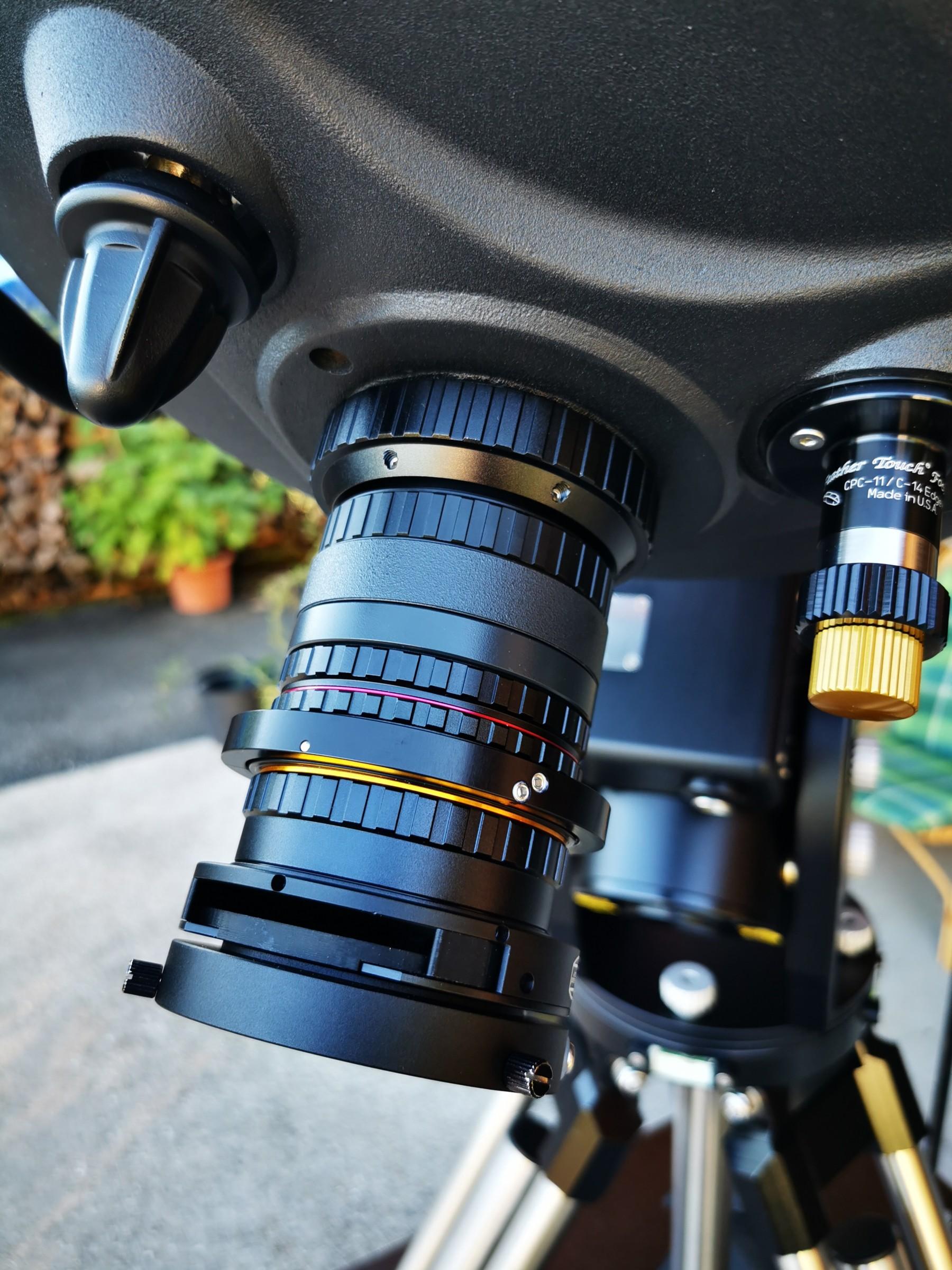 Application: Baader M68 Adapter mit M68-Tilter + UFC für die QHY600M Kamera