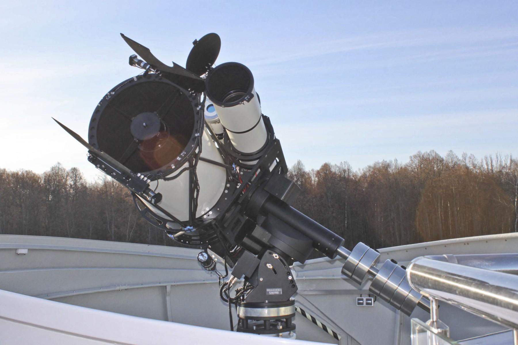 Anwendungsbild: CloseUp des Teleskopsystems für die schlüsselfertige Sternwarte in Khazan, Russland