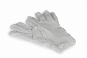 1 Paar Baumwoll-Trikothandschuhe für die Montage empfindlicher Zubehörteile