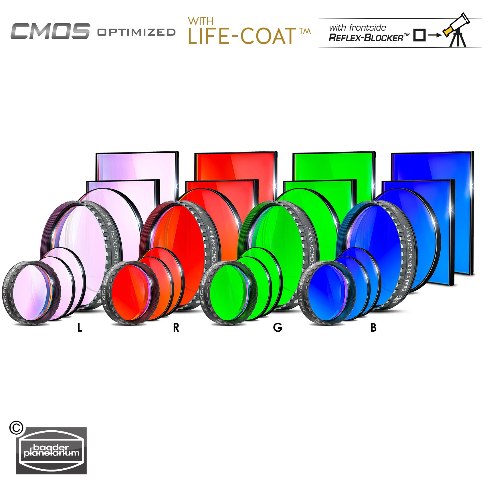 LRGB Filtersatz – CMOS-optimiert