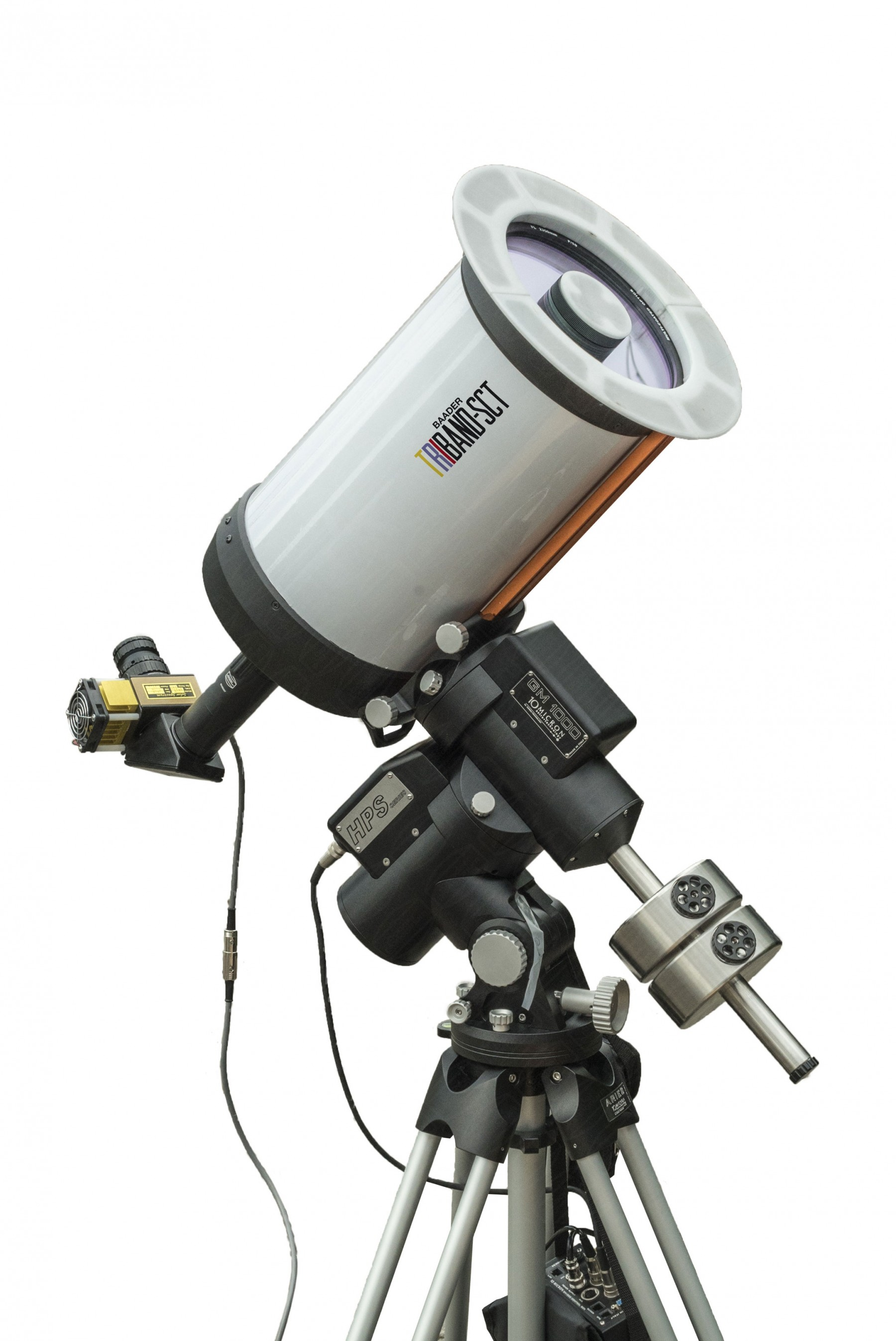 "Application Image: 8"" Triband-SCT (#2301002) with SolarSpectrum H-alpha Filter on 10Micron GM1000 HPS mount"