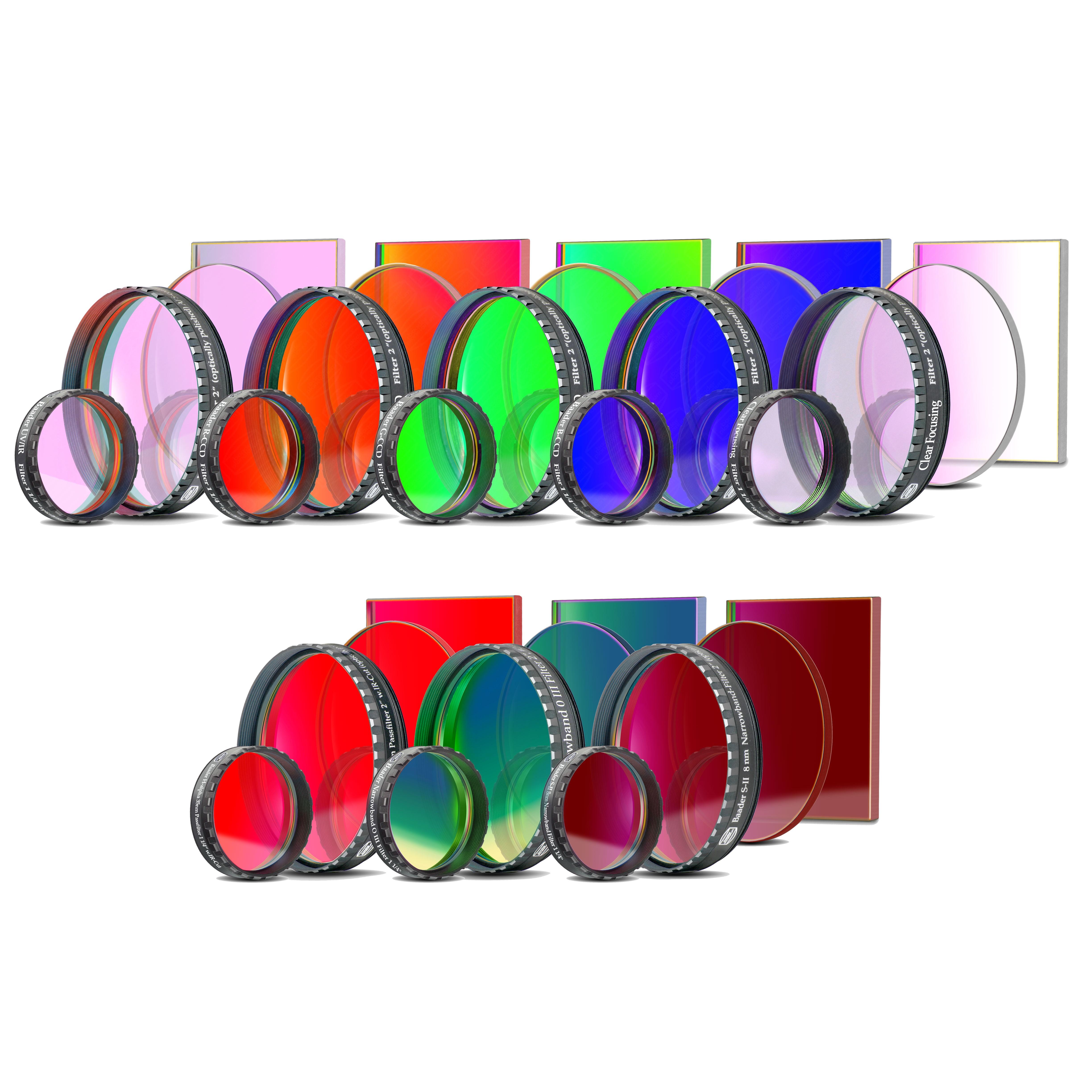 CCD Komplettfiltersatz III (L-RGB-C/H-alpha 35nm/OIII 8.5nm/SII 8nm)
