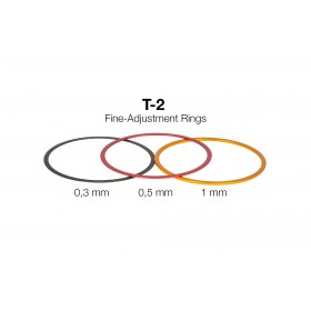 T-2 Fine-Adjustment rings (0,3 / 0,5 / 1 mm) - Aluminium