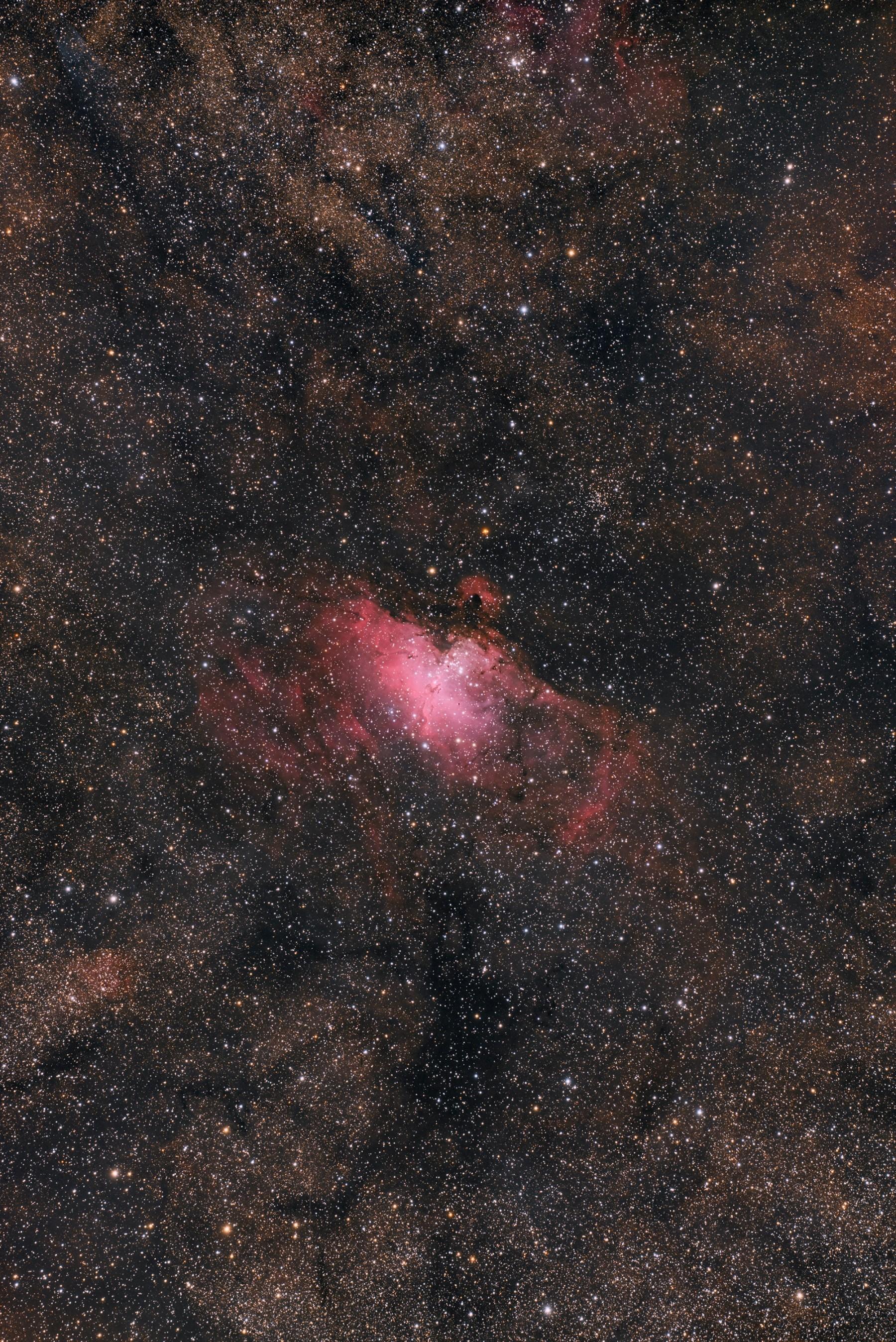 Anwendungsbild: The Eagle Nebula; Baader APO 95 + D810A / unguided GM 1000 HPS