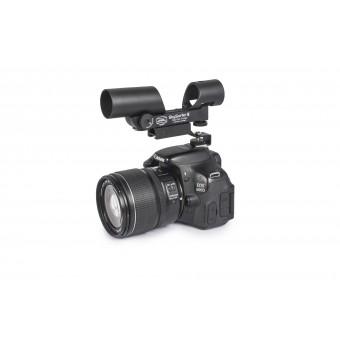 Anwendungsbild: SkySurfer III montiert an Canon EOS 600D mit dem Blitzschuh-Adapter