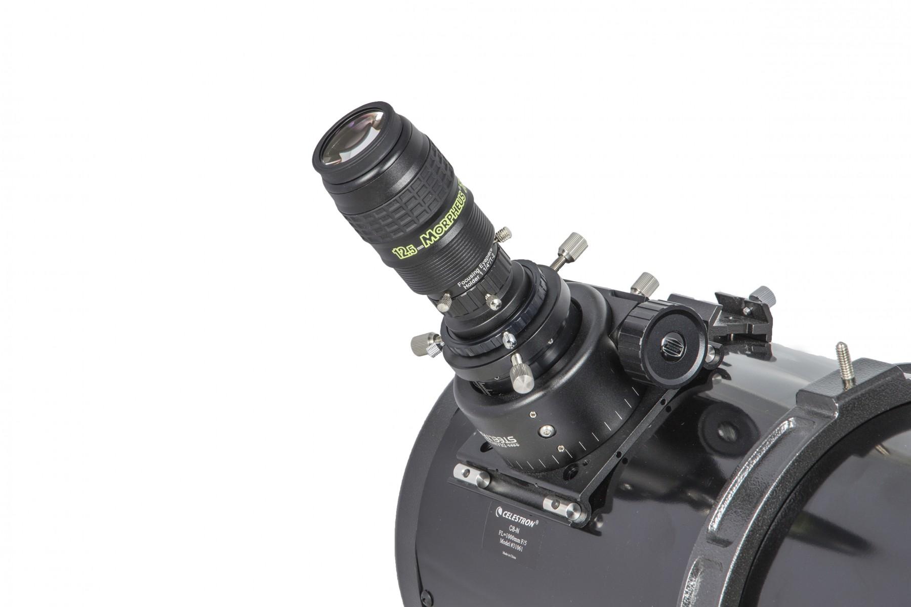Anwendungsbild: MPCC V-1 Set  mit Morpheus Okular und Stopring am Teleskop