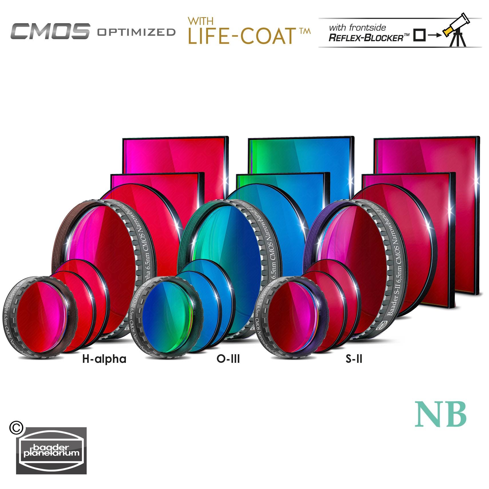 Baader 6.5nm Narrowband Filter-Set – CMOS-optimized (H-alpha / O-III / S-II)