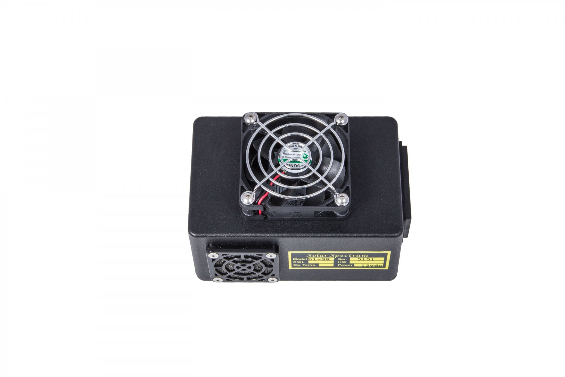 Example of a SolarSpectrum cooling fan (included for all models)