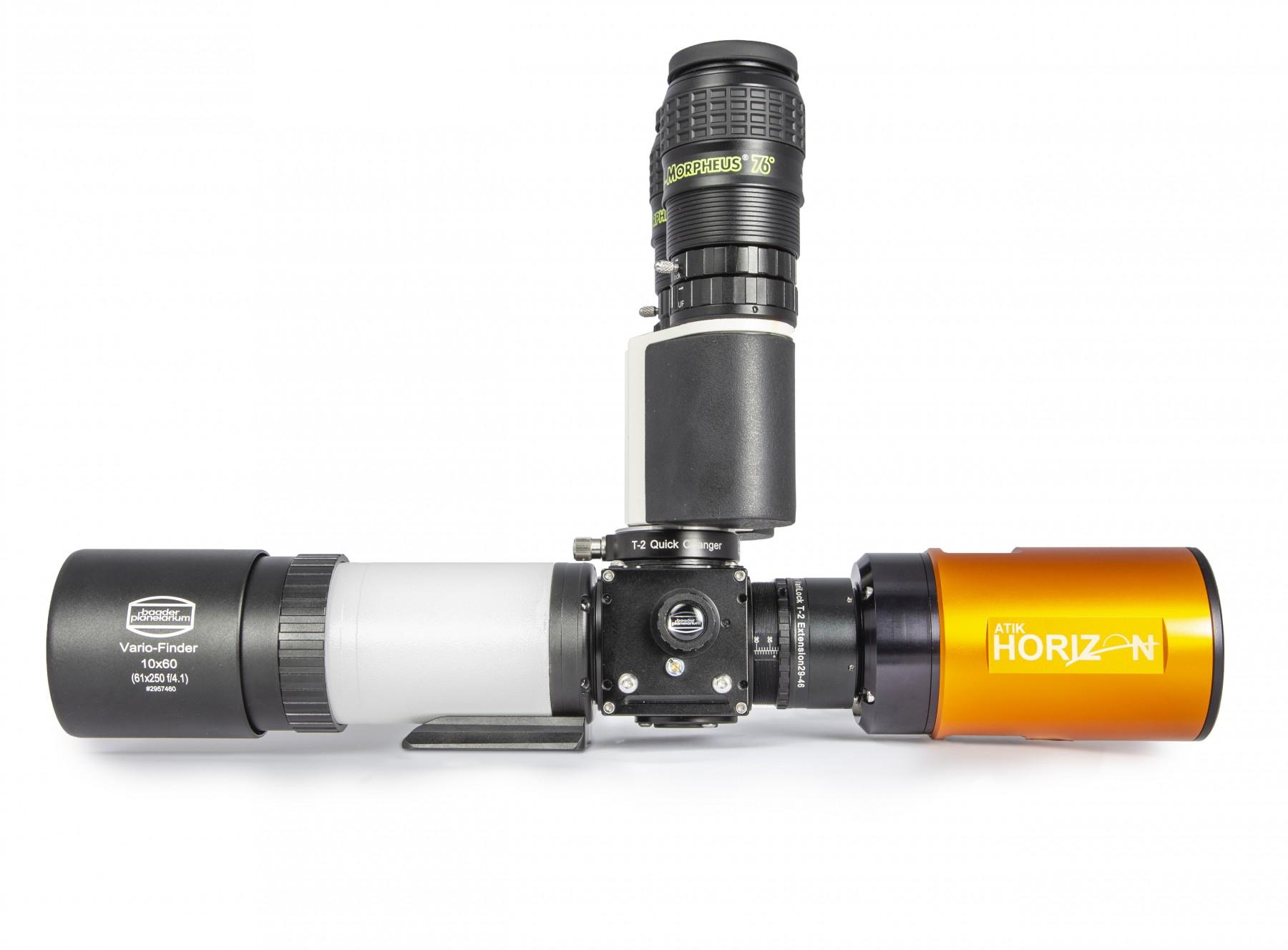 Anwendungsbild: MaxBright II Binokular mit FlipMirror II ermöglicht schnellen Wechsel zwischen Kamera und visuellem Einblick