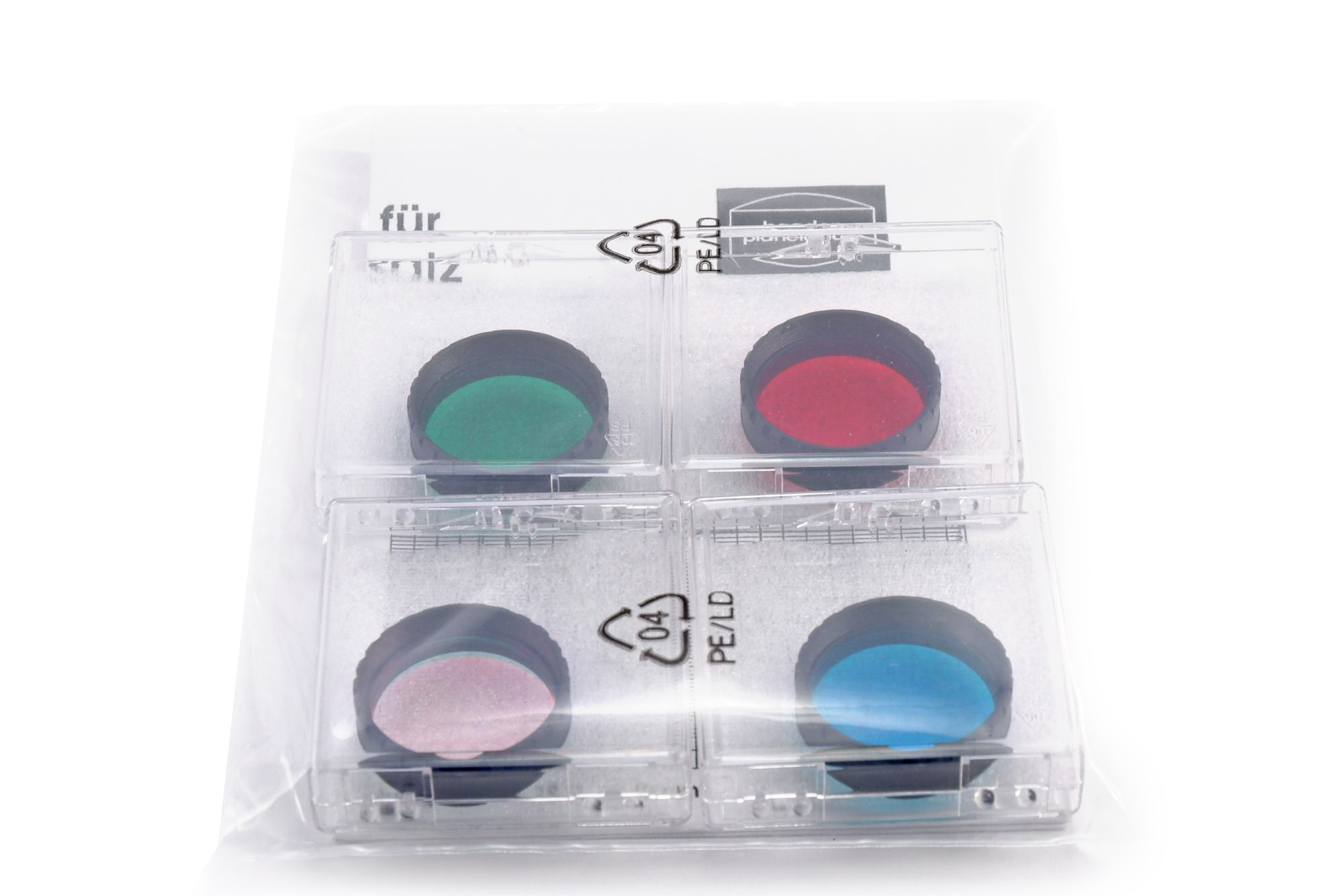 """Baader CCD RGB Filter-Set 1¼"""" for beginners (3 Color Filters + IR Cut Filter)"""
