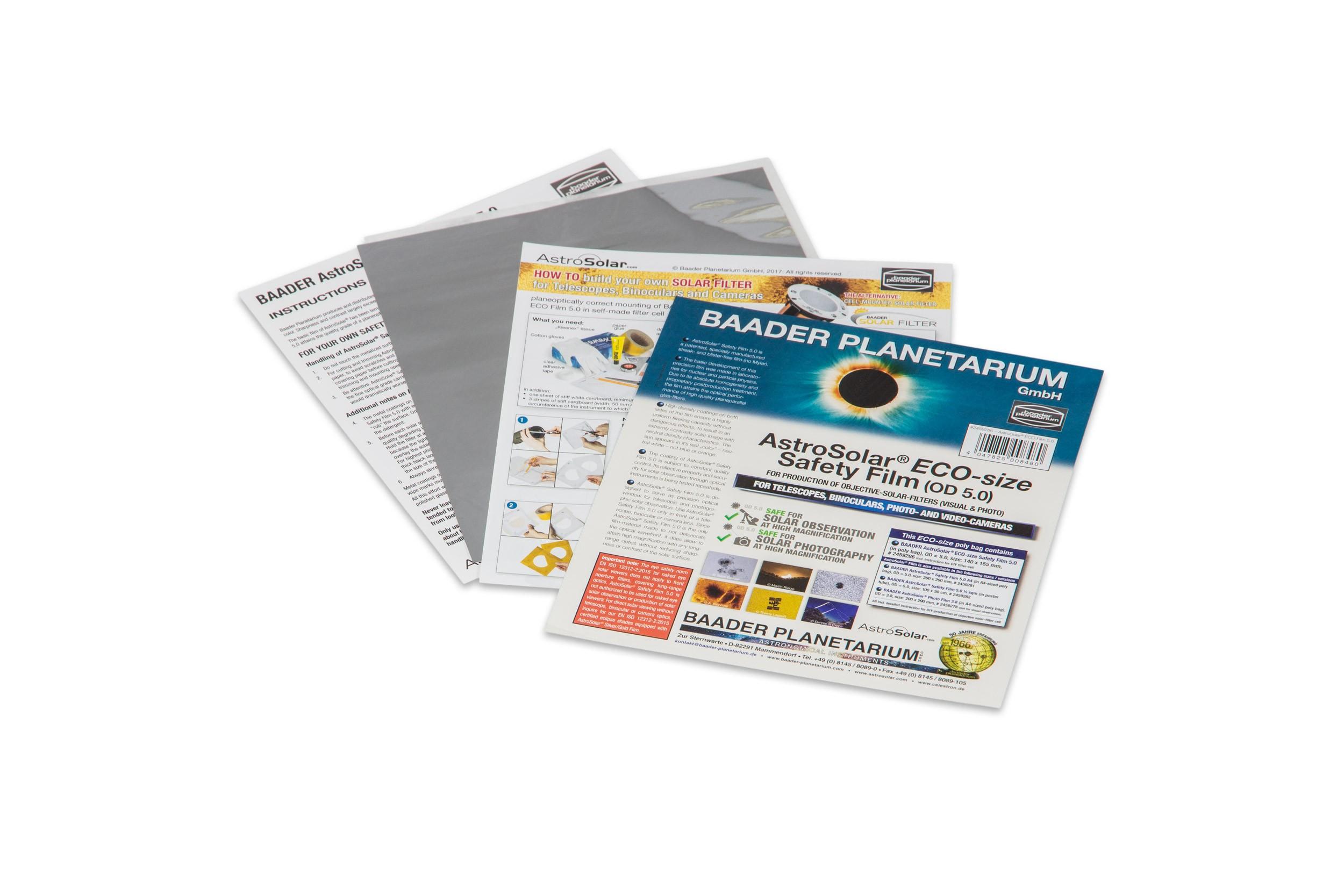 AstroSolar® ECO-size Safety Film 5.0, 140x155 mm