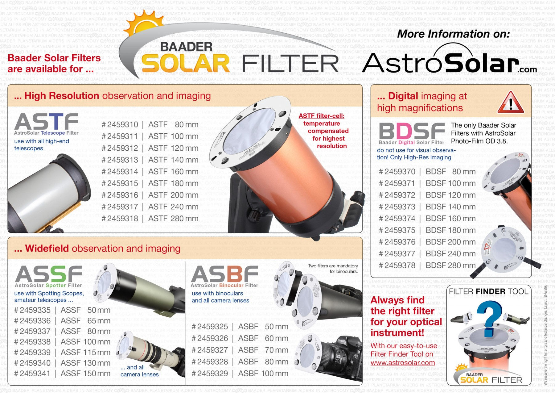 Baader Planetarium 100mm AstroSolar Telescope Filter