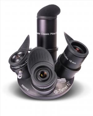 Baader Q-Turret Eyepiece Set (eyepiece revolver, 4x Classic Ortho, 1x Q-Barlow 2.25x)