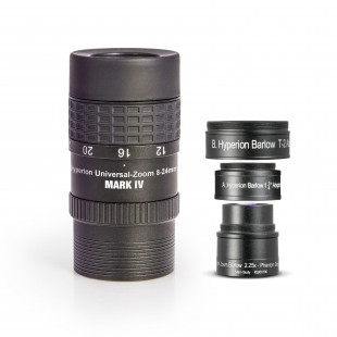 SET: Hyperion Universal Zoom Mark IV + Hyperion Barlow 2,25x (8-24mm / 3,6-10,7mm)