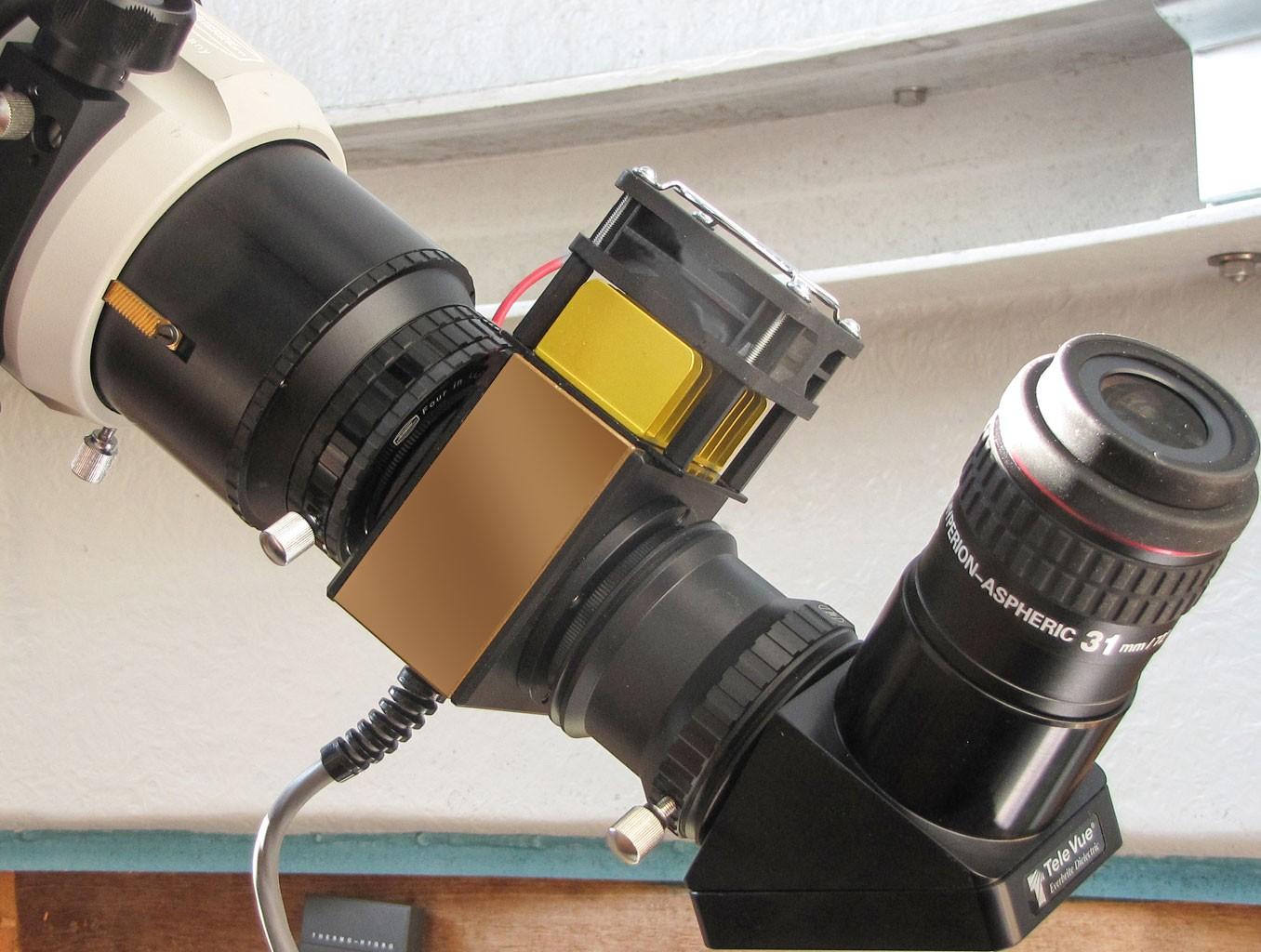 Anwendungsbild: Solar Spectrum H-alpha Filter mit Zenitspiegel und Hyperion Okular
