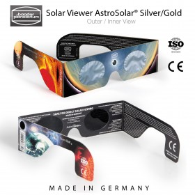 Solar Viewer AstroSolar® Silver/Gold (Staffelungen 1x, 10x, 25x, 100x)