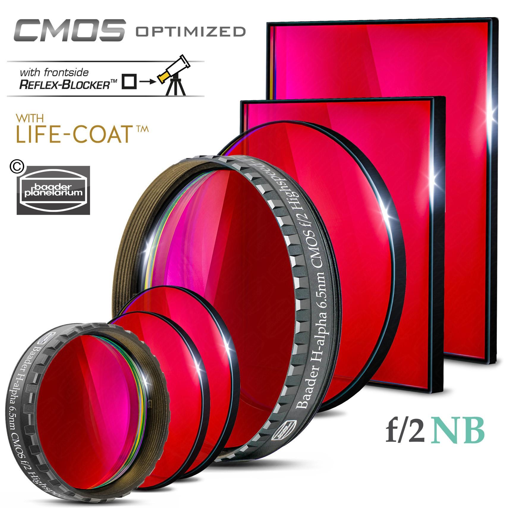 H-alpha f/2 Highspeed-Filter (6.5nm) – CMOS-optimiert