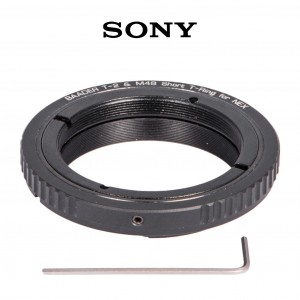 Baader Wide-T-Ring Sony E/NEX Bayonet with D52i/M48 to T-2 und S52