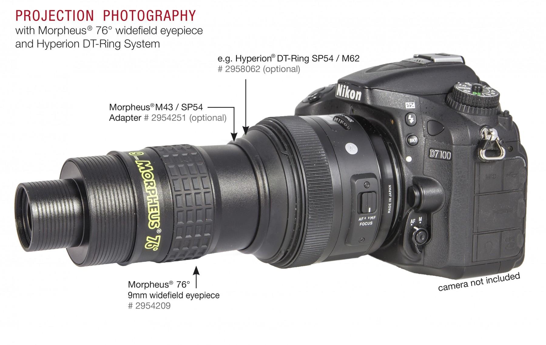 Anwendungsbild: Morpheus 76° für Projektionsfotografie