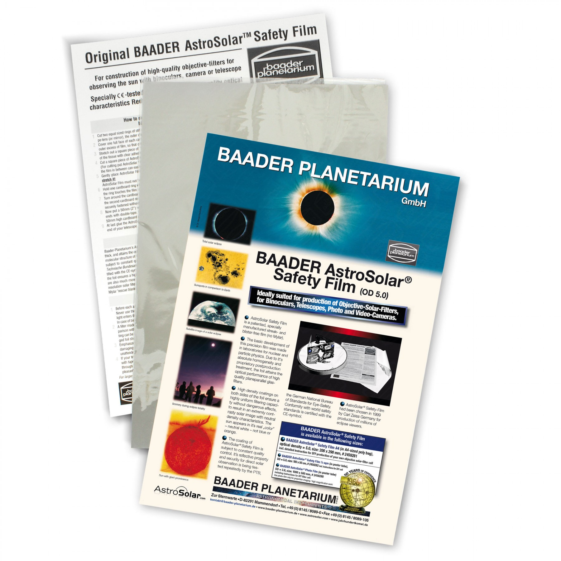 Baader AstroSolar Safety Film OD 5.0 - 20 x 30 cm