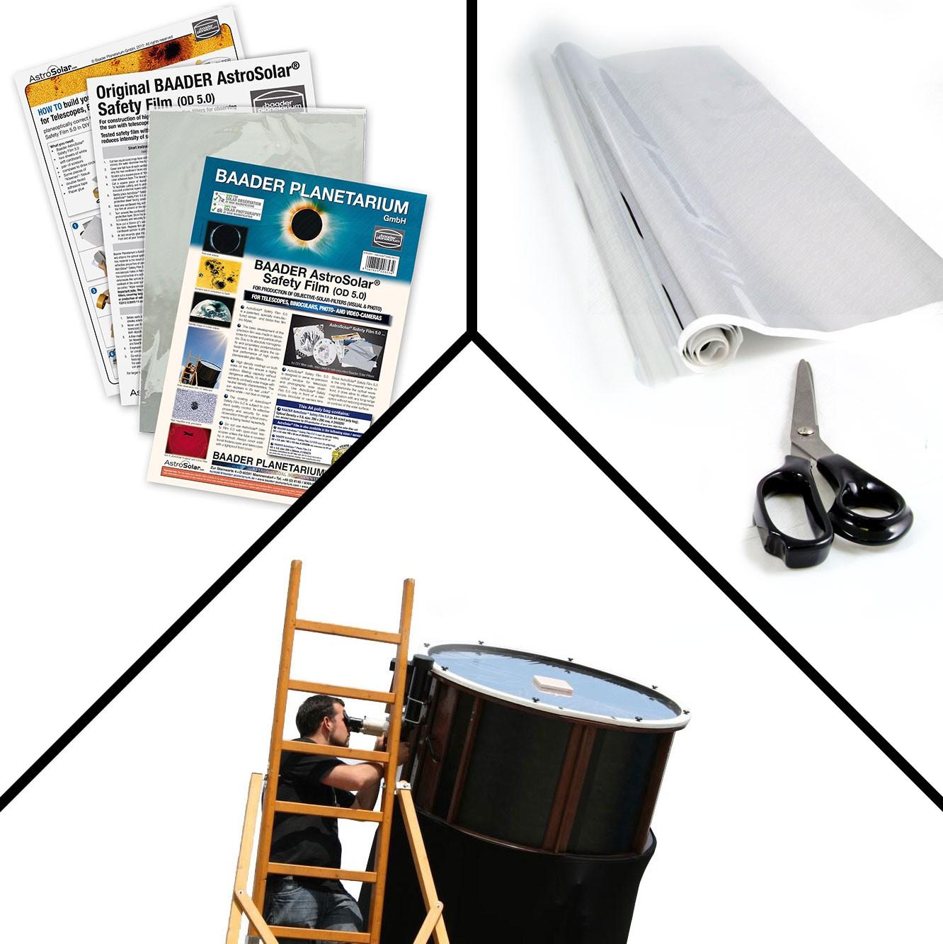 AstroSolar® Safety Film OD 5.0 (ECO-size, 20x29, 100x50, 117x117 cm)