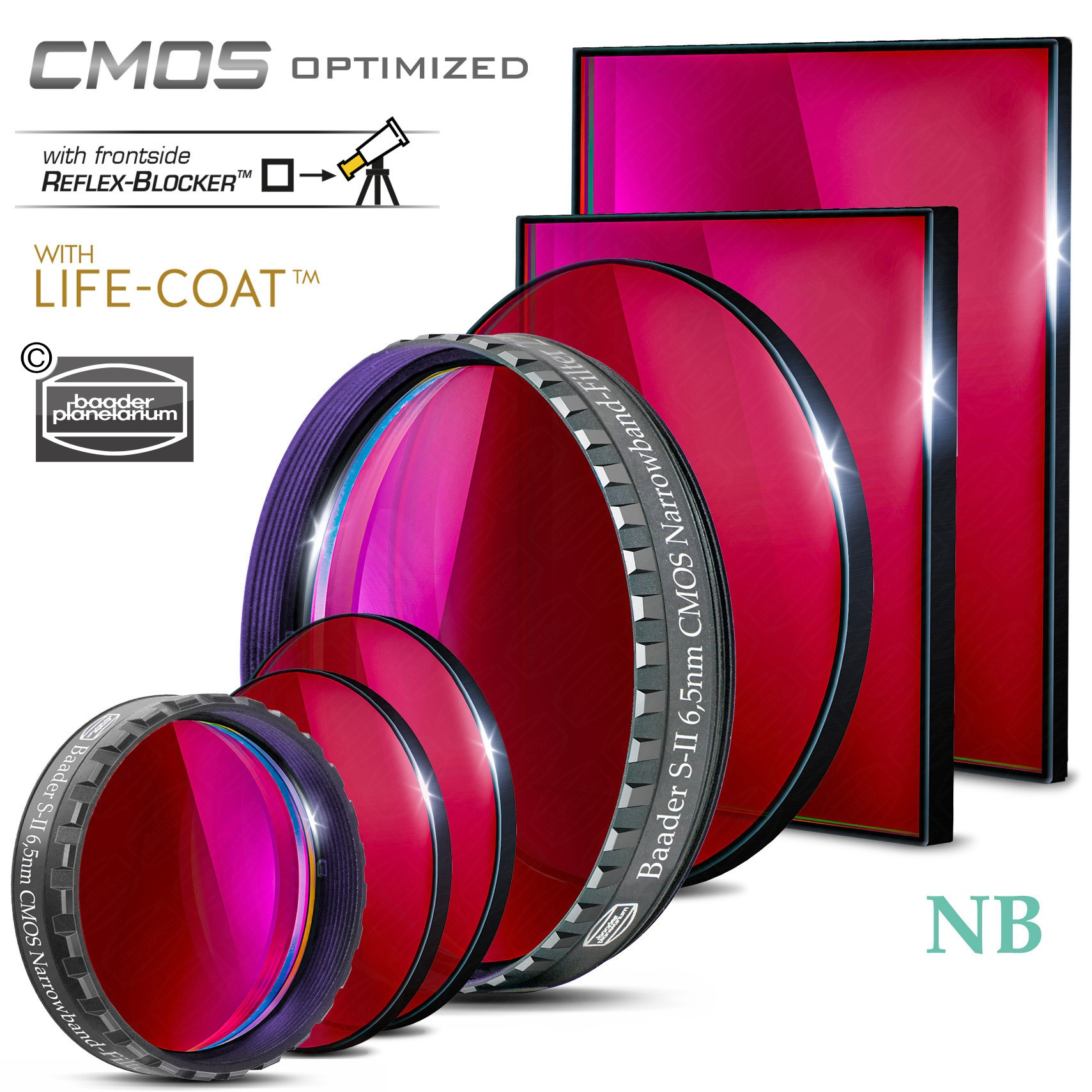S-II Narrowband-Filter (6.5nm) – CMOS-optimiert