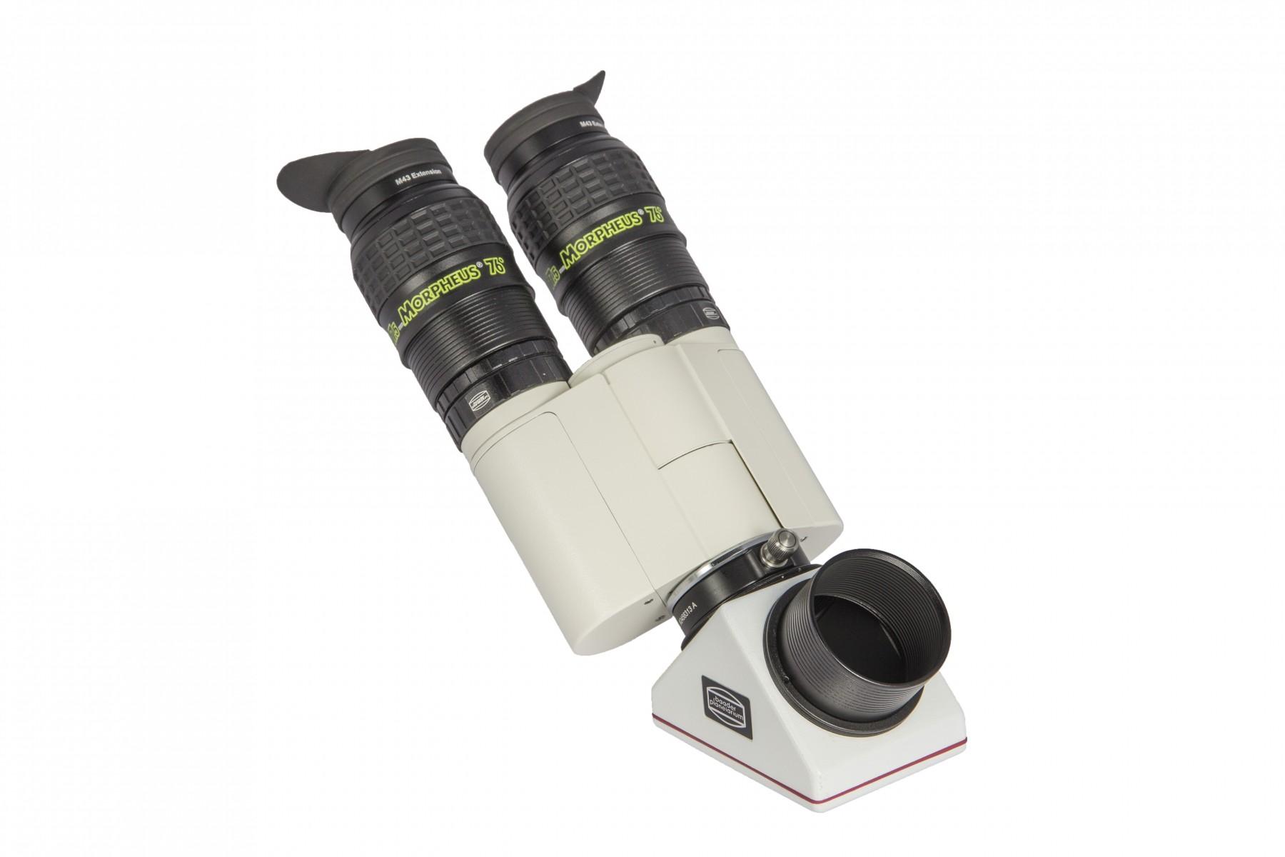 Anwendungsbild: Mit ClickLock Zenitspiegel und schlanken Morpheus 17.5mm Okularen