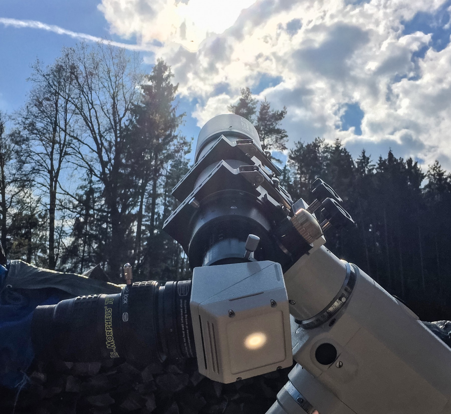 Anwendungsbild: Baader APO mit Safety Herschelkeil und Morpheus 12,5mm zur visuellen Beobachtung