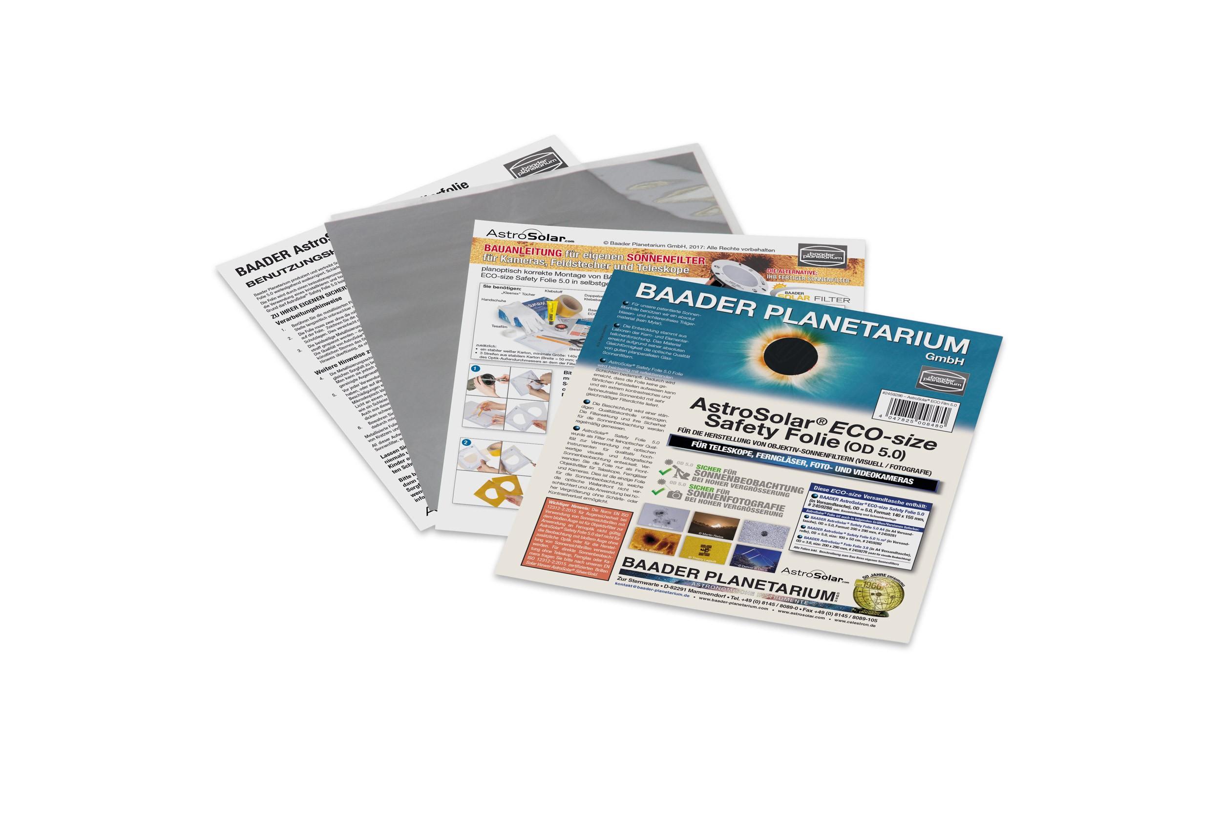 AstroSolar® ECO-size Safety Folie 5.0, 140x155 mm