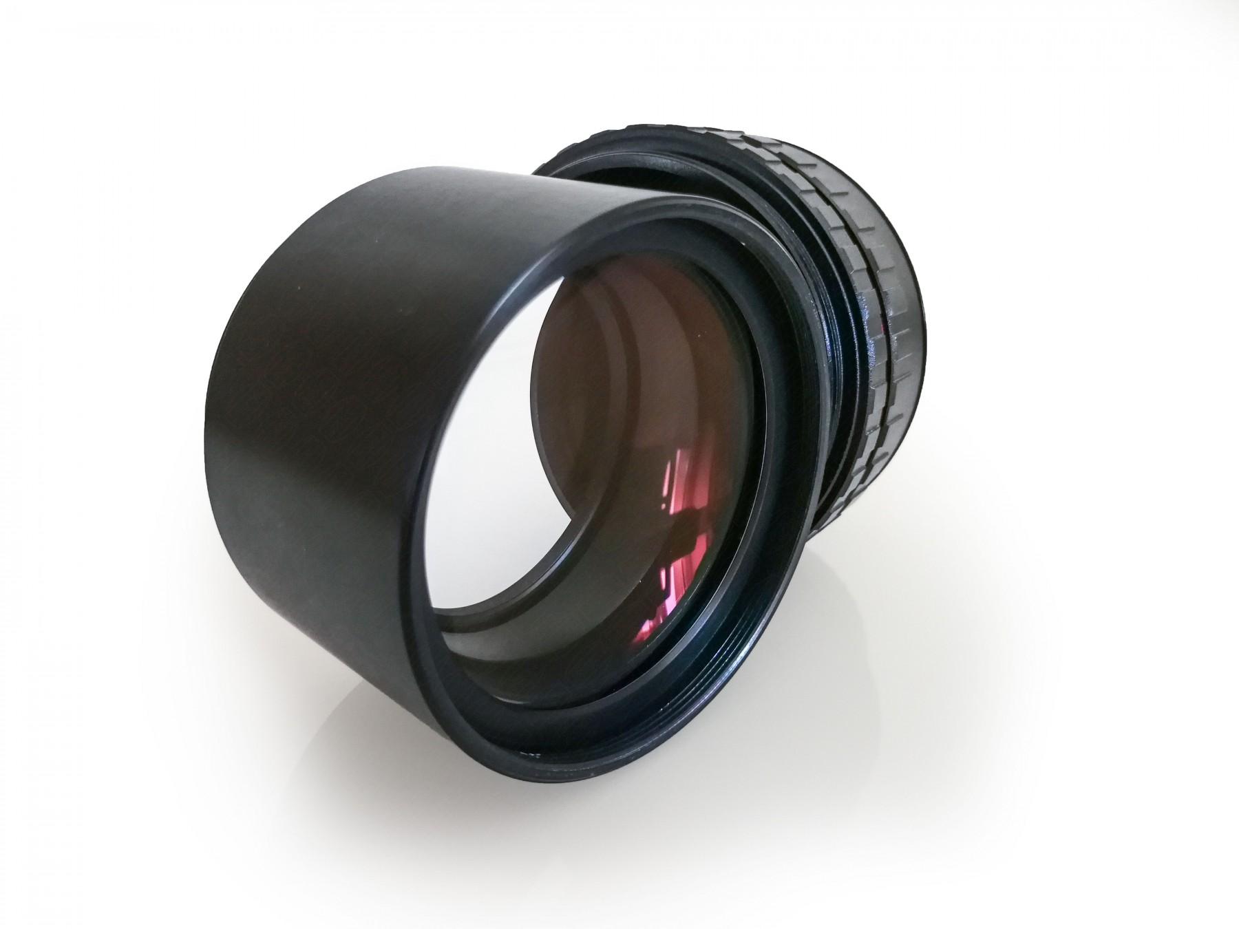 Optionaler Canon Camera Adapter, zusammengestellt aus M68 und T-2 Teilen, nicht im Lieferumfang enthalten