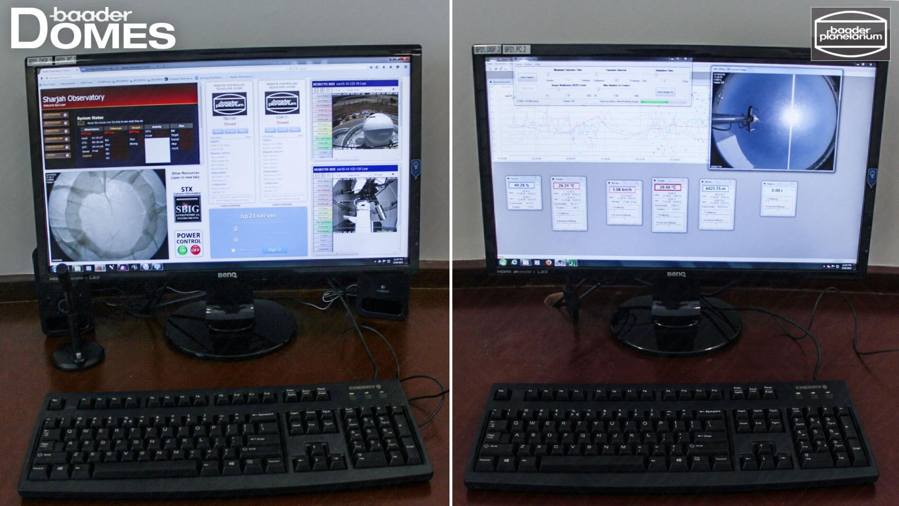 Anwendungsbild: CloseUp der PC-Steuerung für die Remote Controlled Sternwarte in Sharjah