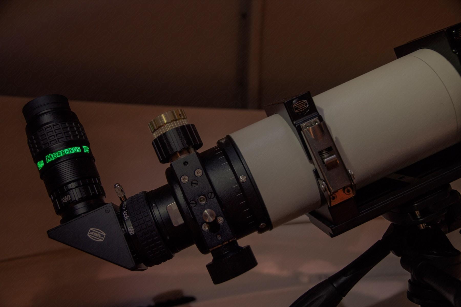 Anwendungsbild: Morpheus 76° mit intensiver lumineszenter Beschriftung