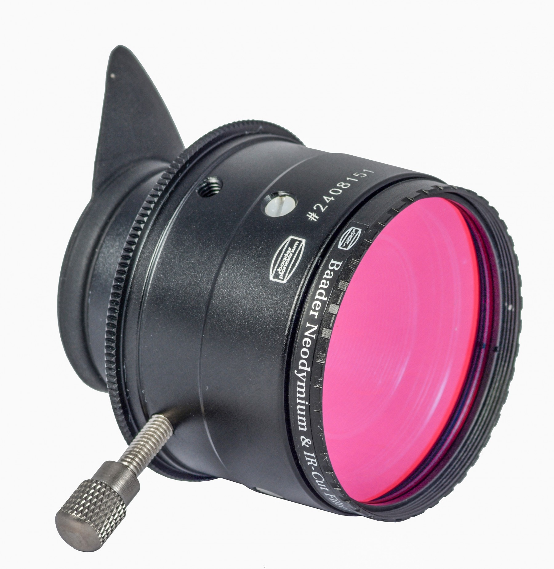 """Application image: You can also use the Double-T Filter Holder (BNr.1508030, T2-Bauteil #31) to permanently mount a 1¼""""-filter in the light path."""