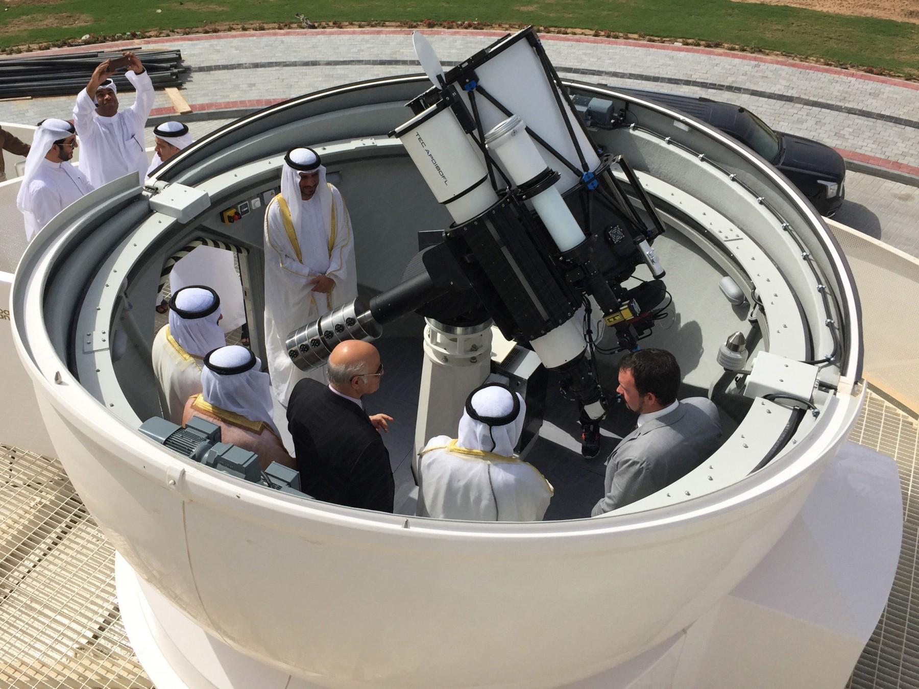 Event: Präsentation der schlüsselfertigen Sternwarte in Sharjah
