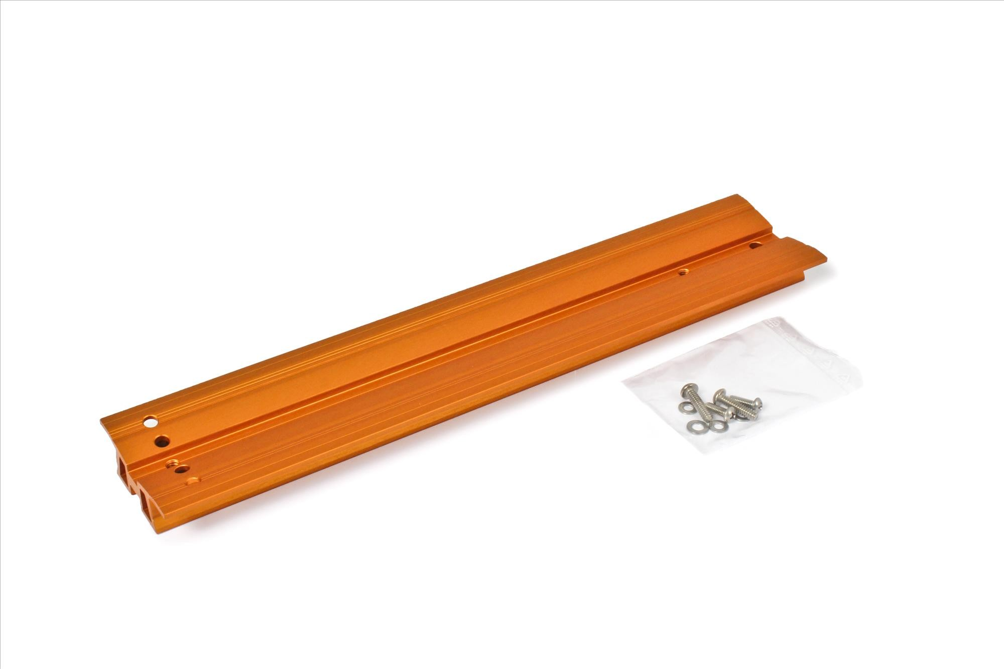 "V-Dove Tail Celestron-orange anodized, 345mm, drilled for Celestron 8"" SC / HD"