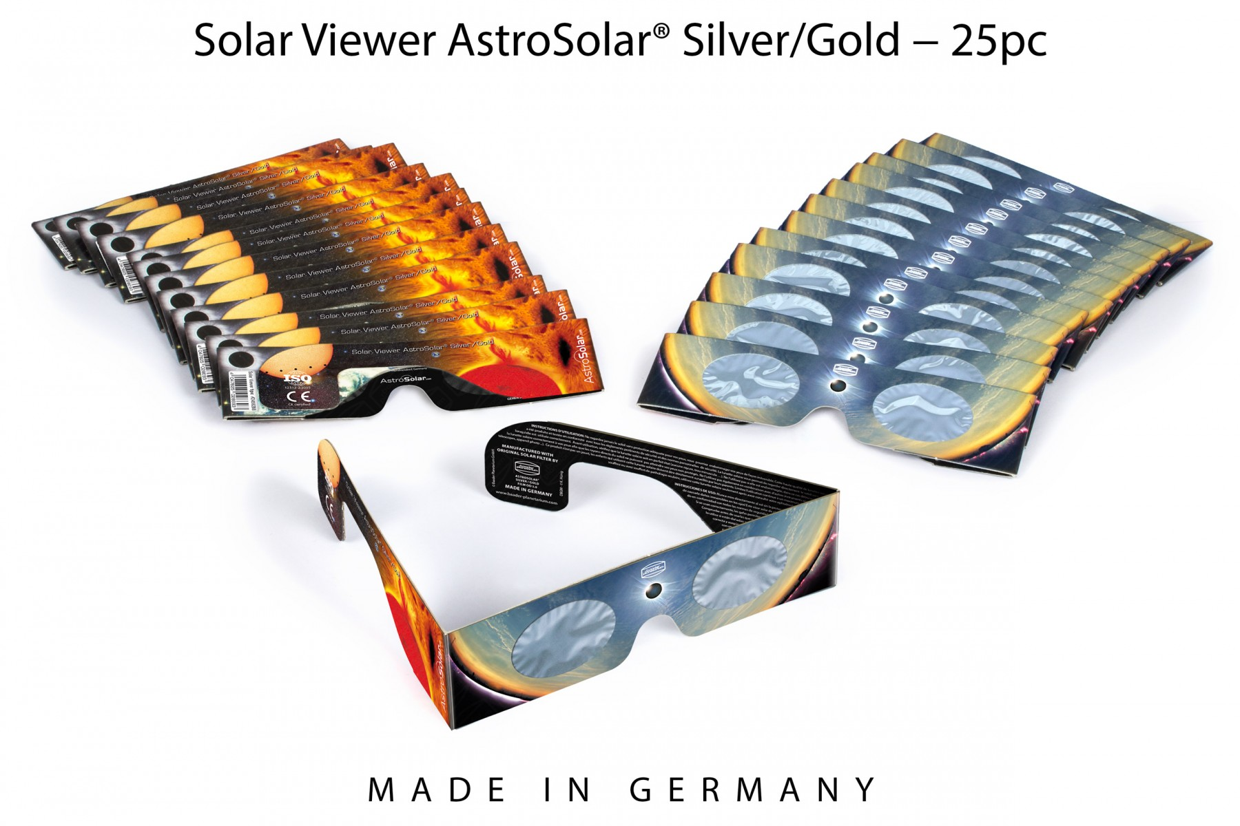 25 x Solar Viewer AstroSolar® Silver/Gold