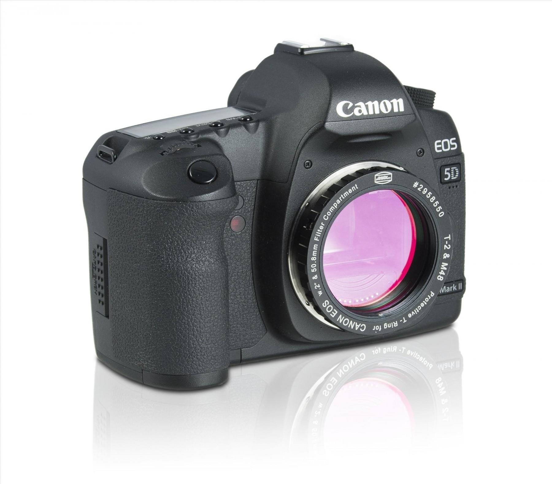 Canon EOS Protective T-Ring mit montiertem Filter. Kamera nicht im Lieferumfang enthalten