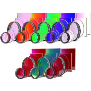 CCD Komplettfiltersatz II (L-RGB-C/H-alpha 7nm/OIII 8.5nm/SII 8nm)