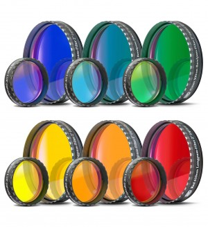 Baader Colour Filters (blue, bright blue, green, yellow, red, orange)