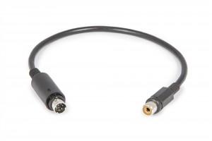 Mini DIN / Cinch-Buchse Adapterkabel zum Anschluss an Heizpads (Steeldrive II)