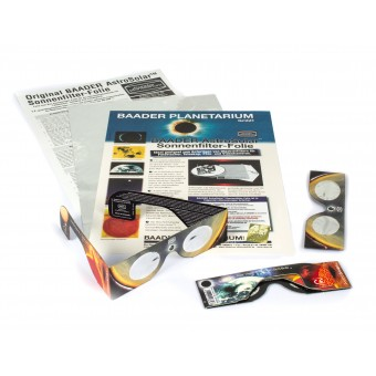 Bundle: AstroSolar Safety Film and Solar Viewers